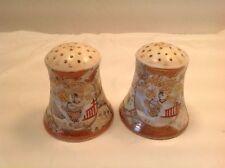 Vintage Royal Nippon Salt & Pepper Shakers Corks Gold Japaneese Woman Ornate