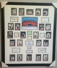 1972 Summit Series Team Canada Framed Piece w/ 33 autographs JSA Full Letter