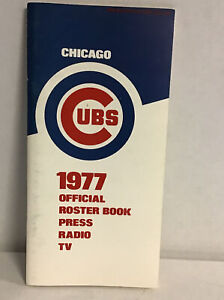 1977 Chicago Cubs Official Roster, Press Guide Mlb (mears)
