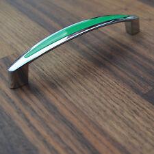 BA128 Möbelgriff Griffe Küche Aus Metal Chrom/Grün kombination Griff Möblegriffe