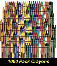 Bulk 1000 Pack Coloured Wax Crayons for Children Art Drawing Colouring Colour