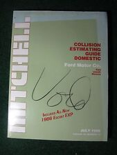 1986 July Mitchell Collision Estimating Guide Manual Ford Lincoln Mercury ++