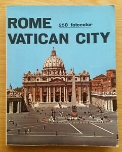 Rome Vatican City 1971, Tourist Guide book and Map (Paperback)