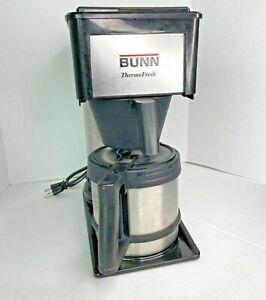 Bunn ThermoFresh 10 Cup Thermal Coffee Brewer Silver Black Maker Carafe BTX-B
