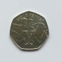 VICTORY VE Day (Letter Y) Isle of Man (Manx) 50p Fifty Pence 2020 Uncirculated