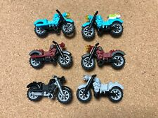 Lego motorcycle Lot of 6 Harley Davidson motorcycles minifig accessories X516B