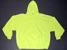 New 996M Jerzees Nublend Safety Green Hooded Sweatshirt Size 3XL XXXL