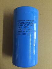 1pC CDE DCMX503U75CD2B 75V 50000UF electrolytic capacitors 75*145MM #FE10 CY