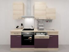 komplett k chen mit sp le und elektroherd g nstig kaufen ebay. Black Bedroom Furniture Sets. Home Design Ideas