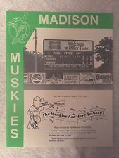 1982-1993 Madison (Wisconsin) Muskies Minor League Baseball Scorecard Lot of 9