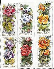 BHUTAN MI 545-50 COMPLETE SET OF 6 NATIVE ROSES