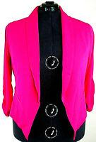 Torrid Neon Pink Crepe Cutaway Blazer Open Hi-lo Long sleeve Jacket 1X 14 16 NWT