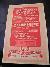 Partitur Hündin de Vie Venturi Les amants getrennt les satelliten Music -blatt