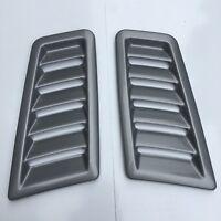 Focus RS MK2 Style Bonnet Vents Silver ABS