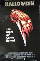"JOHN CARPENTER AUTOGRAPHED 24""x36"" HALLOWEEN MOVIE POSTER - MICHAEL MYERS"