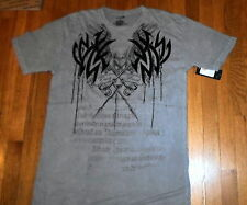 NWT HAWK. Washed Grey, Graphic T,  Sz Large, 100% Soft Cotton  (539)