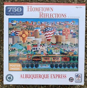 ALBUQUERQUE, NM, RIO GRANDE EXPRESS THE JIGSAW PUZZLE FACTORY, 18x24, 750 PIECES