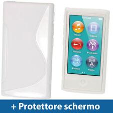 Cover e custodie bianchi in plastica rigida per lettori MP3