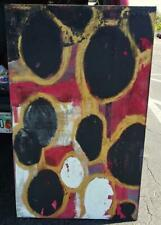 Vintage Abstract Expressionist MCM Mid Century Modern Modernist Oil Painting Art