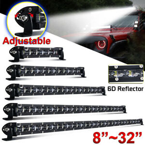 8/14/20/26/32 inch Single Row Slim LED Work Light Bar for Car Off road Truck