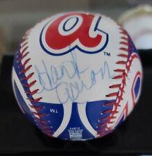 Hank Aaron Signed Ball Atlanta Braves Logo Baseball Autographed Baseball JSA
