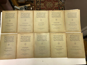 Women's Institute Library Of DEPT OF SEWING 13 Booklets, Scranton, PA 1920'S