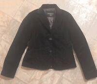 Women's Eddie Bauer BLACK VELVET BLAZER Jacket Size 8