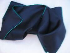 Seda de A Suffolk MILL, pañoleta .16sq, Azul Marino Con Cable De Seda, Esmeralda rastras Borde