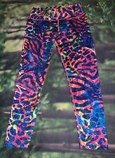 Fiber Colombian Activewear Printed Leggings Gym Workout Savage Neon O/S