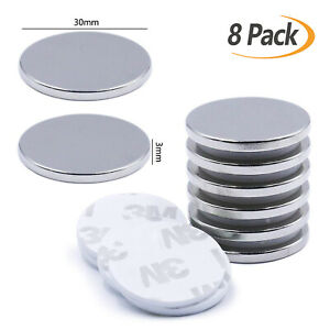 8x Strong Neodymium Magnets Disc Rare Earth Magnet to Garage Kitchen Fridge DIY