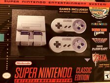Super Nintendo SNES Classic Edition Mini System Console 21 Games HDMI In hand