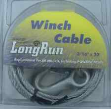 """Tie Down Engineering 59379 Winch Cable Galvanized 3/16"""" X20` 10980"""