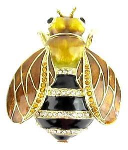 Honey Bee Jewelled Trinket Box or Figurine