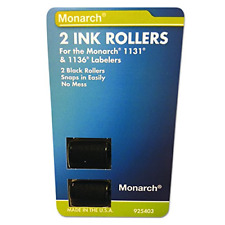 Monarch Ink Roller, 2Pk Black Ink Usa Replacement Easy-Load, For 1131 1136 Oem