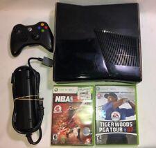 Microsoft Xbox 360 S Slim Edition 4GB Black 1439 Gaming Console Controller Games