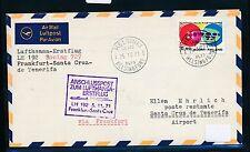 95236) LH FF Francfort-SANTA CRUZ Espagne 5.11.71, lettre à partir de la Finlande