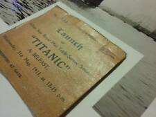 2 X Frame ready 8x10 TITANIC launch, May 31, 1911 w/REPLICA TICKET STUB piece