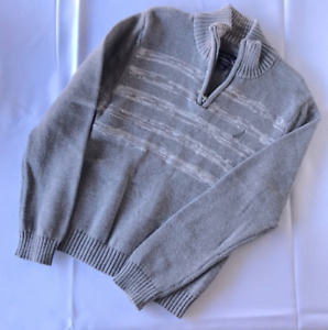 Kids Nautica 1/4 Zip Pullover Sweater Grey Kids