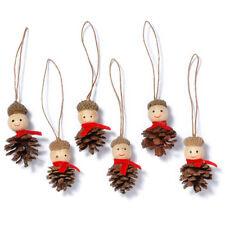 Weihnachtsdeko Zapfen-Männchen 6cm 6Stk Figuren Anhänger Weihnachtsbaumanhänger