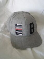 Black Scale Gray Snapback Embroidered B Logo Flags Hat, Rocky red stripe