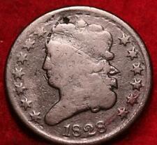 1828 Philadelphia Mint Copper Classic Head Half Cent 13 stars