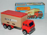 VINTAGE MATCHBOX SUPERFAST MERCEDES NYK CONTAINER TRUCK MINT ORIGINAL K BOX 1976