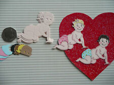 CRAWLING BABY BABIES CHRISTENING GIRL BOY DIE CUTS CARD MAKING TOPPER UNIQUE KIT