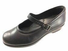 SH19 SAS 7WW Black Leather Mary Jane Flats Tripad Comfort Shoes USA Made