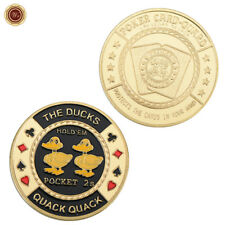 WR The Ducks Quack, Quack (2, 2) - Gold Casino Poker Cards Guard Protecter Chip
