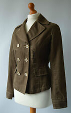 Ladies Boden Khaki Green / Brown Jacket Double Breasted Jacket Size 8