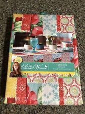 """NEW Pioneer Woman Tablecloth 60"""" x 84"""" ~ Patchwork ~ Free Shipping!"""