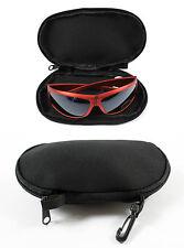 Negro Acolchado Gafas De Sol Gafas Funda / Bolsa Con llevar Clip Ideal Para Vacaciones
