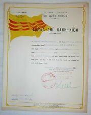 Arvn Document - Honorable Discharge - Hue 1965 - Vietnam War - Military Police