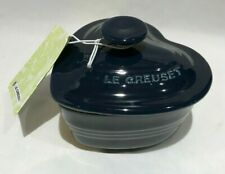 Le Creuset Ramekin small - dark blue stoneware Heart Casserole New